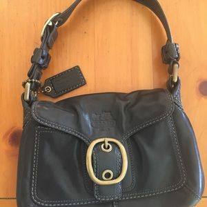 Coach small black leather purse